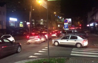 Paraliż drogowy na Witominie