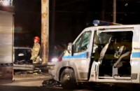 Wypadek radiowozu na ulicy Morskiej w Gdyni