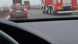 Wypadek na S7 w kierunku Warszawy