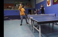 Trickshot table tennis