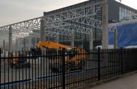 Budowa w Gdyni na Łużyckiej - market budowlany