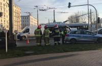 Skutki kraksy na Węźle Cegielskiej w Gdyni