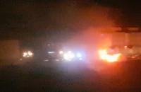Pożar samochodu na Zakoniczynie w Gdańsku