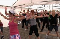 Letni maraton fitness na molo w Brzeźnie
