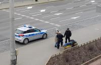 Interwencja policji na ul. Władysława IV w Gdyni