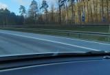 Policja ustawiła się na wjeździe z Estakady Kwiatkowskiego na obwodnicę