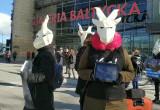 Protest przeciw używaniu kaszmiru w produktach odzieżowych