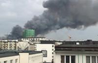 Pożar z perspektywy centrum miasta