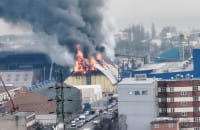 Pożar w Porcie Gdynia