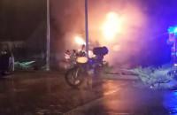 Pali się budynek mieszkalny na ul. Świętokrzyskiej