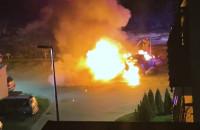 Spłonęły dwa auta na ul. Potęgowskiej w Gdańsku
