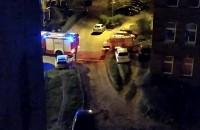 Interwencja straży pożarnej na Spadzistej