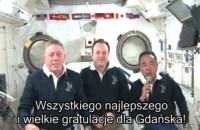 Pozdrowienia z kosmosu dla Gdańska