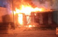 Pożar na Przeróbce w sobotę nad ranem