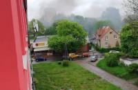 Poważny pożar na Stogach