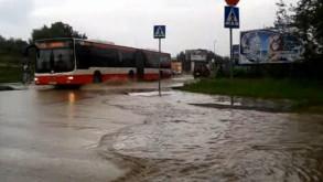 Gdańsk-Orunia Górna, zalane skrzyżowanie