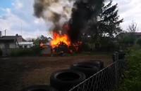 Pożar na posesji w Osowej