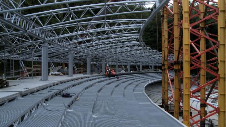 Plac budowy wpaździerniku ubiegłego roku