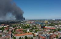 Pożar w porcie w Gdańsku
