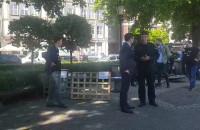 Policja legitymuje członków PiS