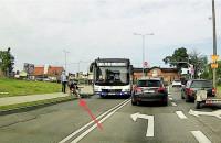 Chciał wymusić pierwszeństwo na autobusie