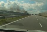 Pożar auta na A1 w stronę Gdańska