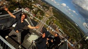 Widoki z pylonu mostu im. Jana Pawła II