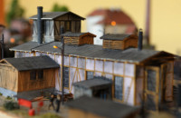 Wielka makieta stacji kolejowej