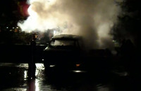 Pożar samochodów Gdańsk Oliwa, akcja dogaszania
