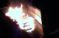 Pożar samochodów Gdańsk Oliwa, widok z okna