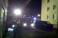 Nocny pożar budynku przy Wojska Polskiego