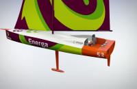 Animacja 3d jachtu ENERGA