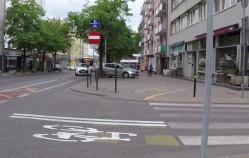 Krótszy kontrapas rowerowy w centrum Gdyni