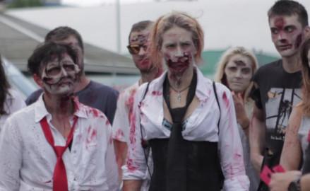 Biegacze zmagali się z zombie