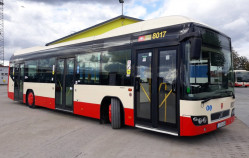Hybrydowy autobus na ulicach Gdańska
