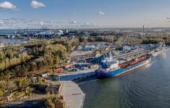 Odnowione nabrzeża w gdańskim porcie