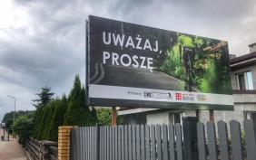 Rowerowe billboardy przy ulicach