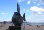 Rzeźba 'Trzy ryby'