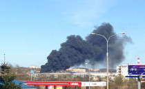 Pożar przy ul. Hutniczej w Gdyni