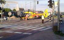 Wypadek motocyklisty. Zabrał go helikopter