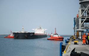 Statek z rekordowym ładunkiem węgla w gdańskim porcie