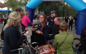 Oświetliliśmy w sumie 1500 rowerzystów
