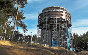 Prawie gotowa wieża ciśnień na Wyspie Sobieszewskiej