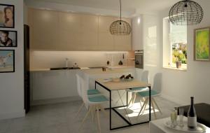 Stylistyczna spójność kuchni i salonu