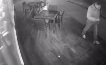 Kamera zarejestrowała złodzieja laptopa....