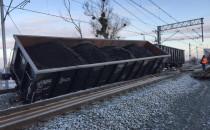Wykolejenie trzech wagonów na Oruni