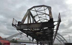 Ruszyła rozbiórka 100-letniego mostu obrotowego na Martwej Wiśle