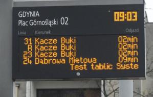 Gdynia: błędne informacje na przystankach