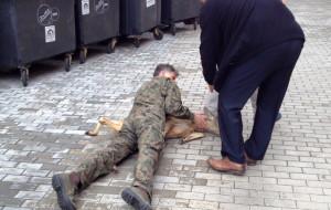 Uwięziona sarna na terenie urzędu w Gdańsku
