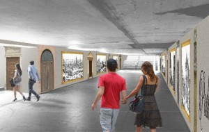 Bez muralu w tunelu pod Podwalem Przedmiejskim